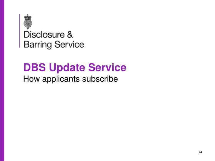 DBS Update Service