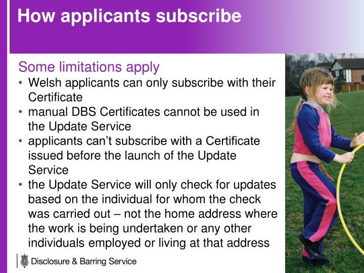 How applicants subscribe