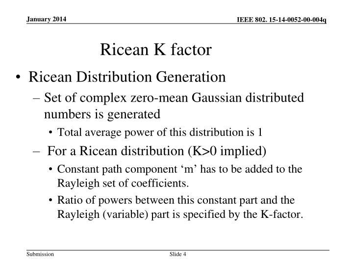 Ricean K factor
