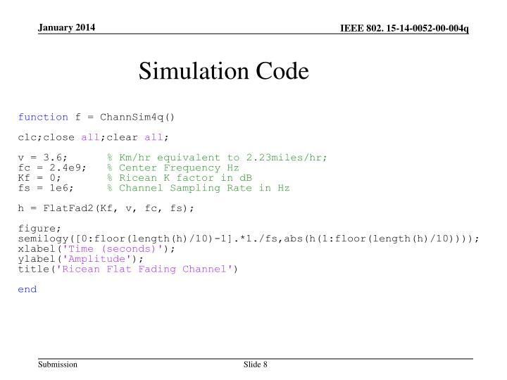 Simulation Code
