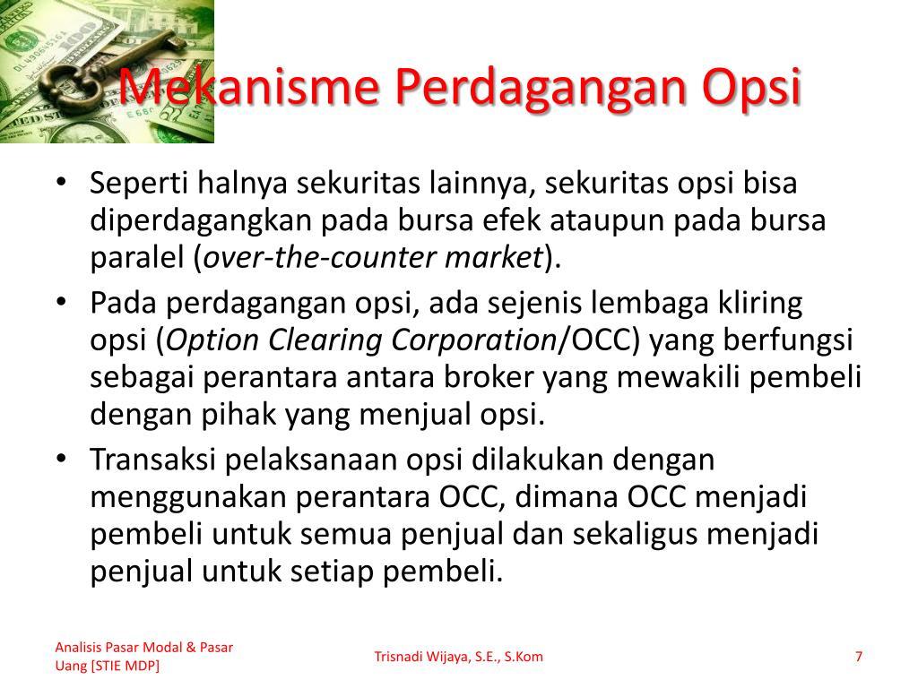 pengenalan perdagangan dan investasi dengan opsi
