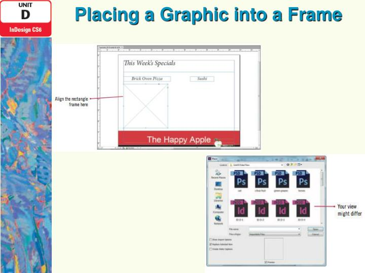 Placing a Graphic into a Frame