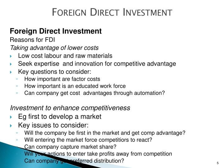 advantages of direct investment