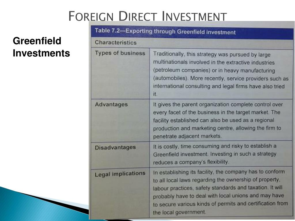 Foreign direct investment ppt download software sous faitiere koramic investment