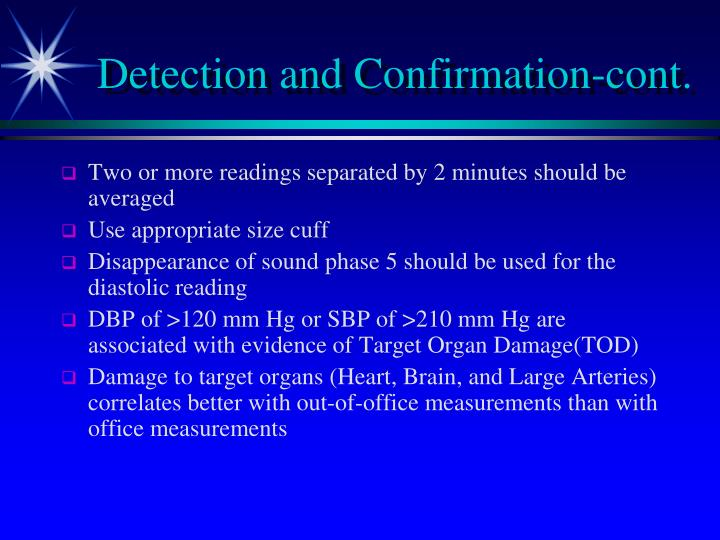 Detection and Confirmation-cont.