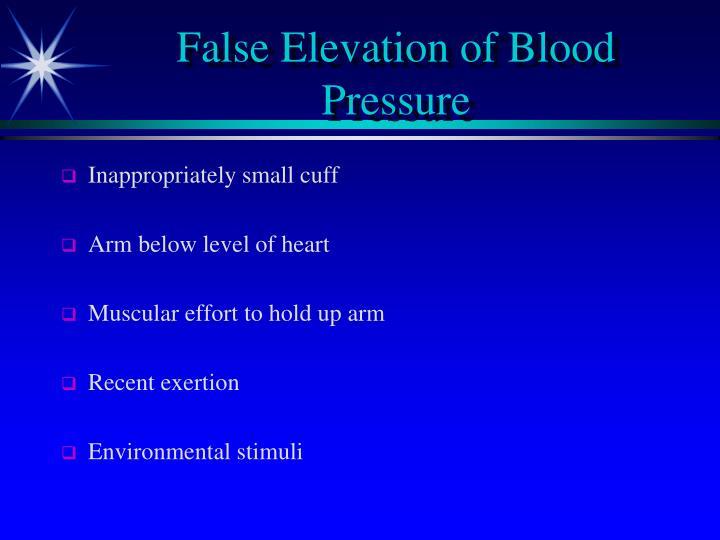 False Elevation of Blood Pressure