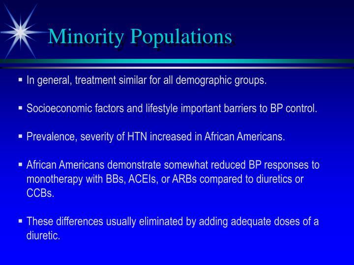 Minority Populations