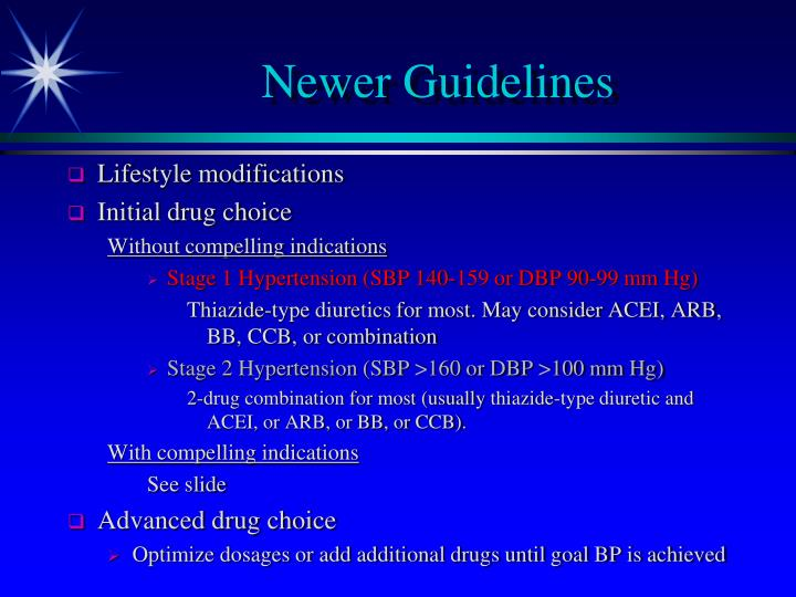 Newer Guidelines