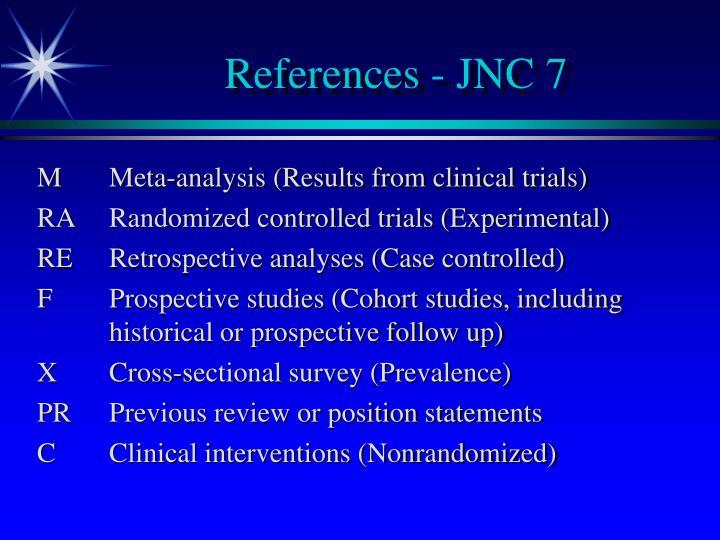 References - JNC 7