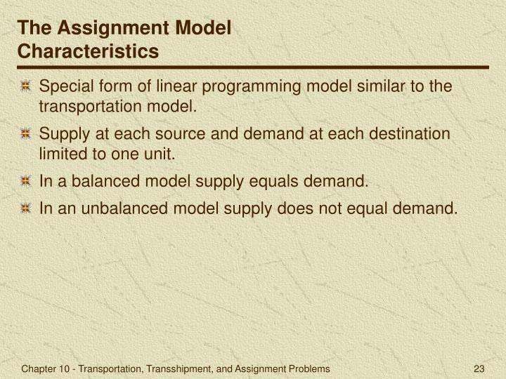 The Assignment Model