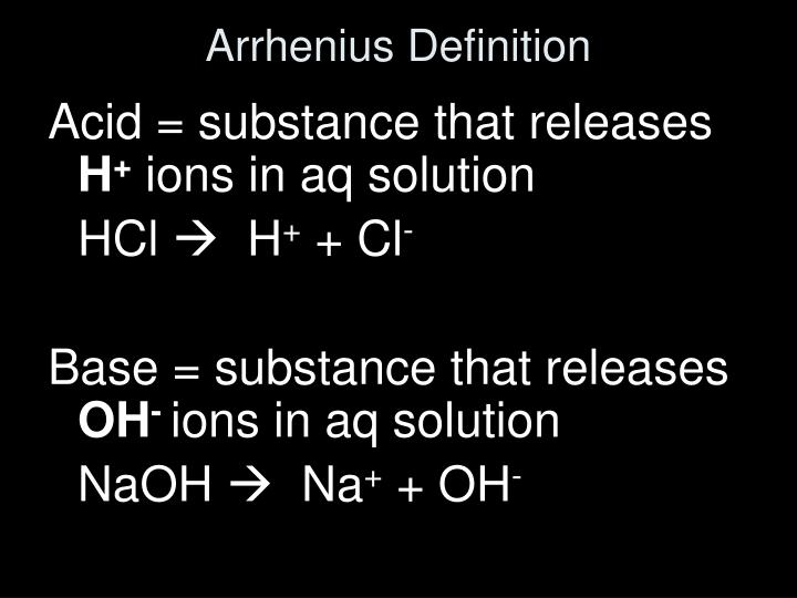 Arrhenius Definition