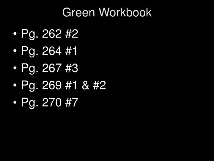 Green Workbook