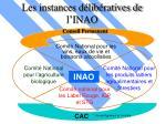 les instances d lib ratives de l inao