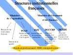 structures institutionnelles fran aises