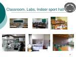 classroom labs indoor sport hall