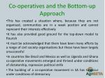 co operatives and the bottom up approach1
