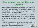 co operatives and the bottom up approach2