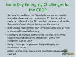 some key emerging challenges for the crdp2
