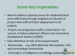 some key imperatives3