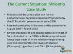 the current situation mhlontlo case study1