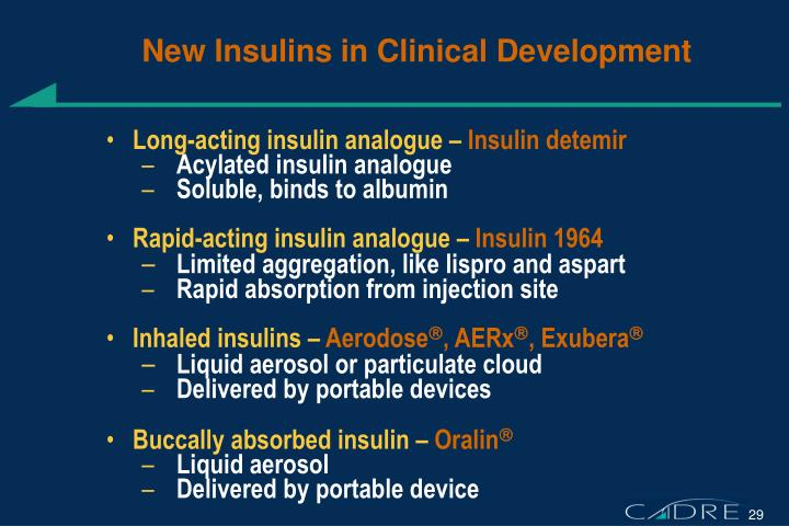 New Insulins in Clinical Development