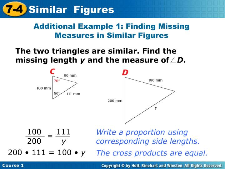 The two triangles are similar. Find the missing length