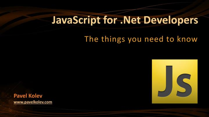 javascript for net developers n.