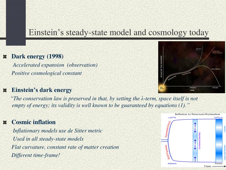 Einstein's steady-state model and cosmology today