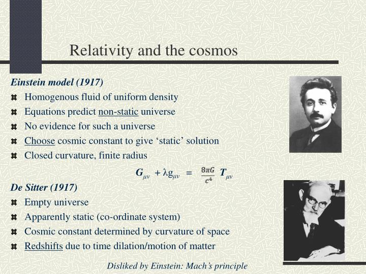 Relativity and the cosmos