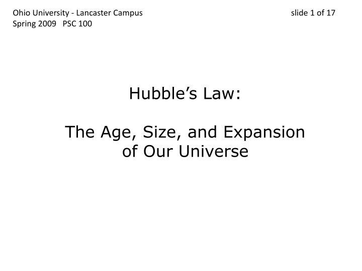 Ohio University - Lancaster Campus                                 slide 1 of 17
