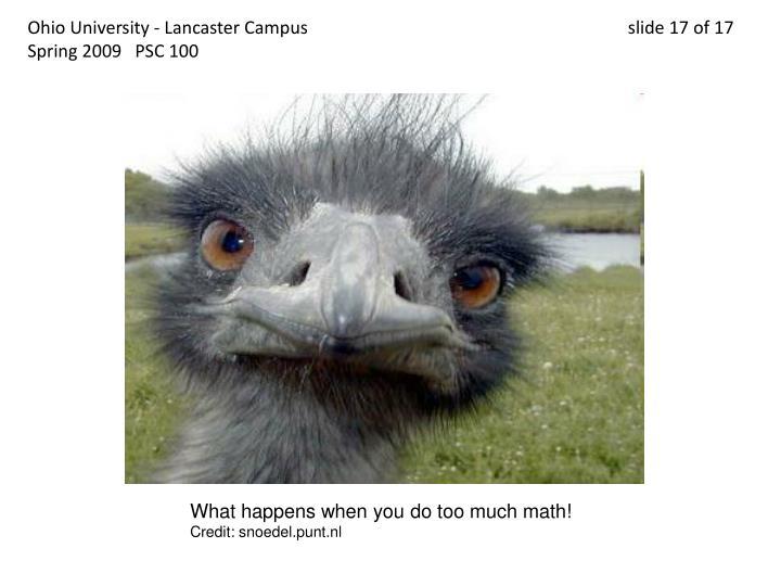 Ohio University - Lancaster Campus                                 slide 17 of 17