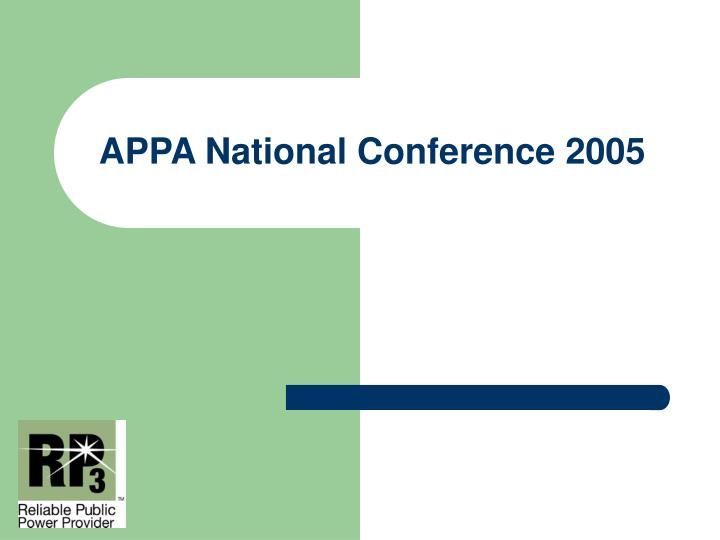 Appa national conference 2005