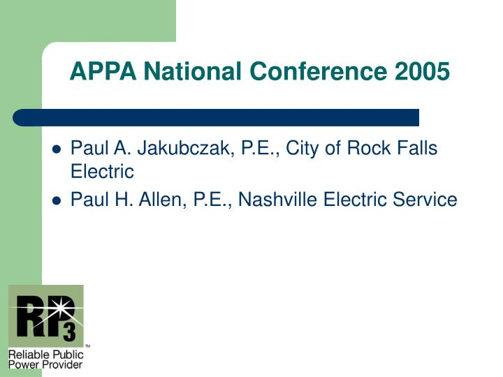 Appa national conference 20052