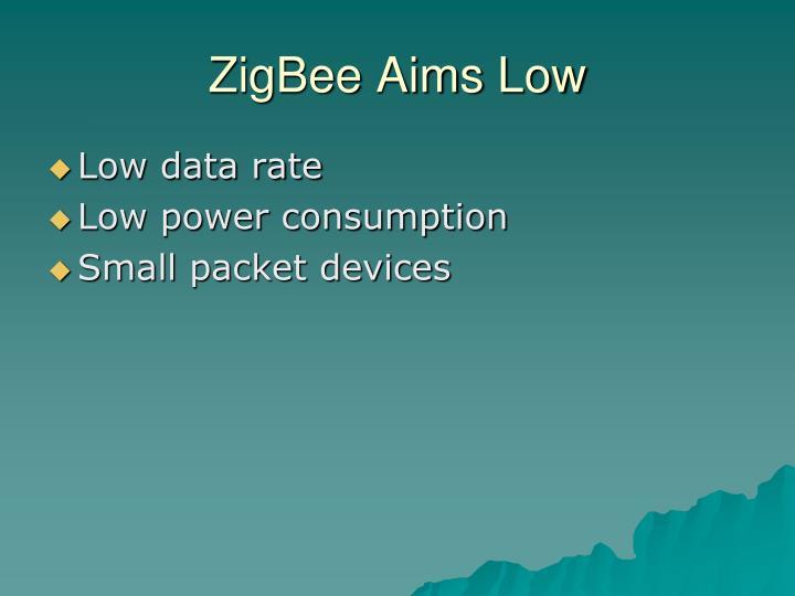 ZigBee Aims Low