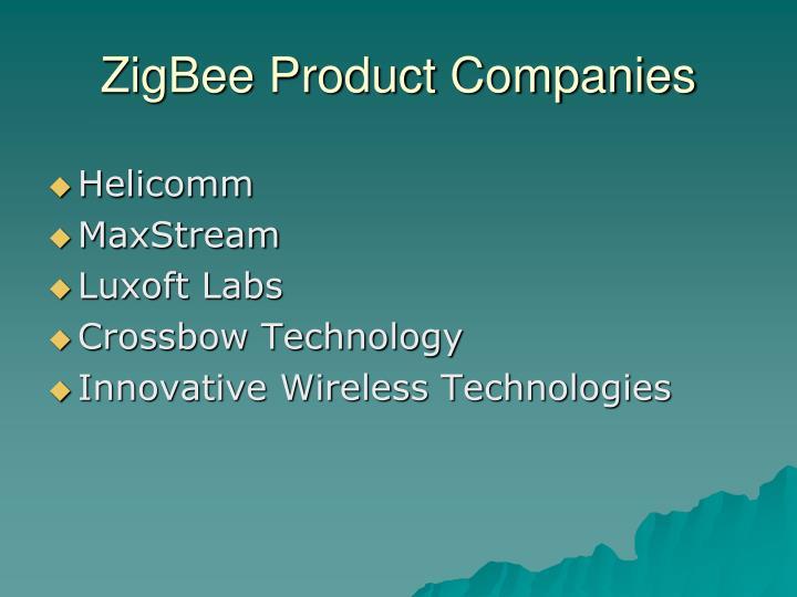 ZigBee Product Companies