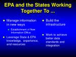 epa and the states working together to