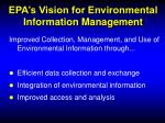 epa s vision for environmental information management