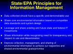 state epa principles for information management