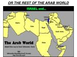 or the rest of the arab world