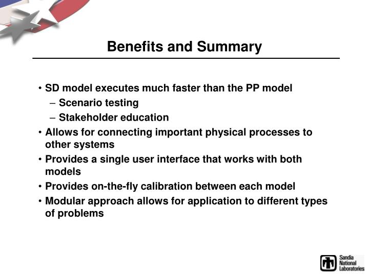 Benefits and Summary