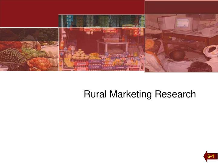 rural marketing research n.