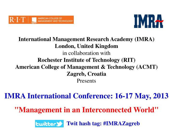 International Management Research Academy (IMRA)