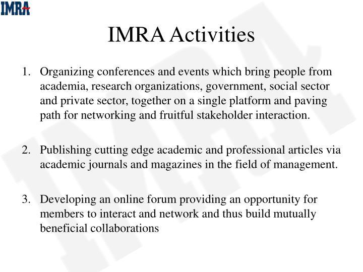 Imra activities
