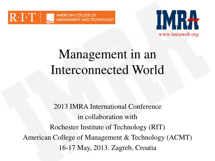 Management in an interconnected world
