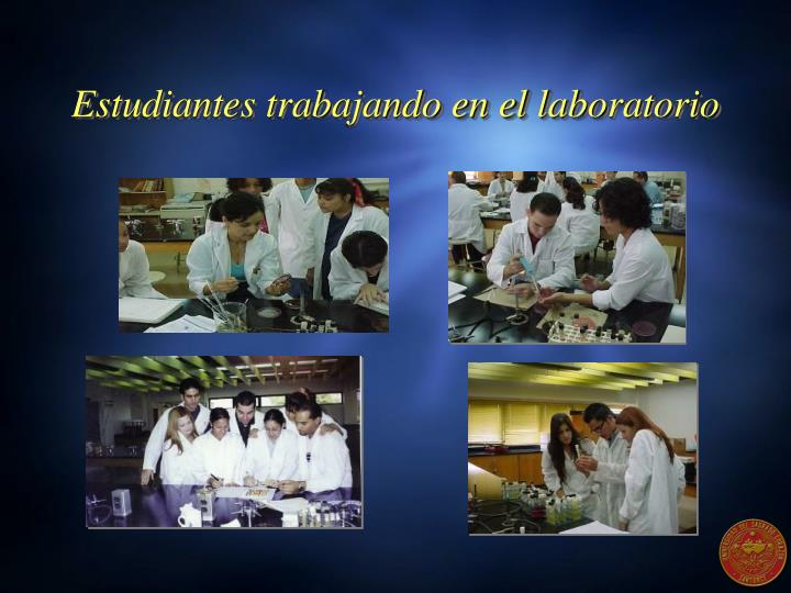 Estudiantes trabajando en el laboratorio