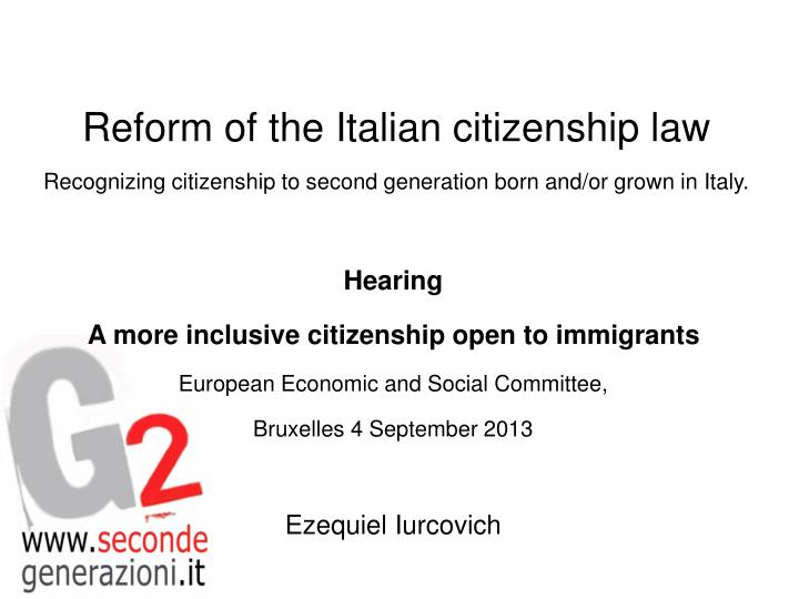 Reform of the Italian citizenship law