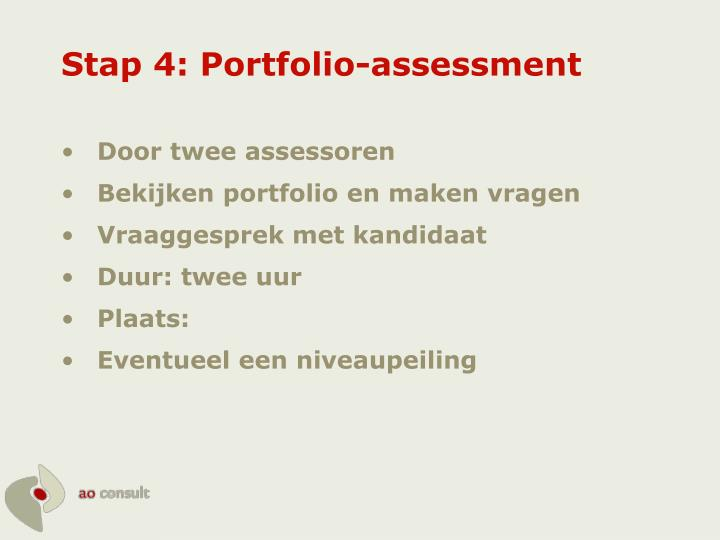 Stap 4: Portfolio-assessment