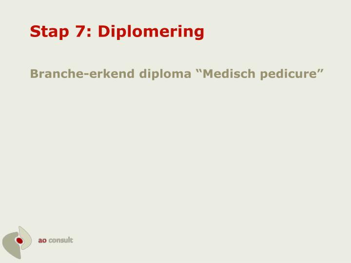 Stap 7: Diplomering