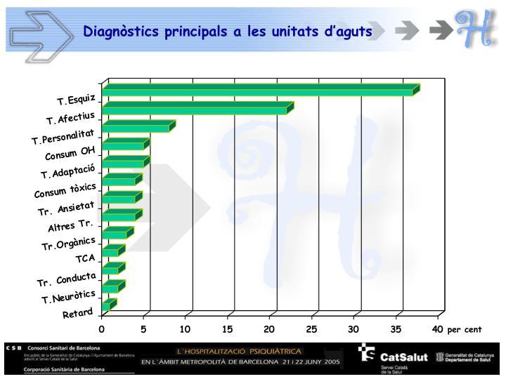 Diagnòstics principals a les unitats d'aguts