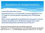 questions on amperometrics3
